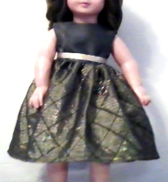 Doll dress sown by Aletheia, Betsy and Hope, 2020