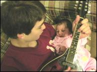 Josh and Aletheia on Mandolin
