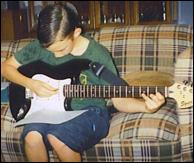 Peter on electric guitar