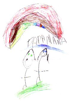 'Papa and Mama' by Lilly, age 6
